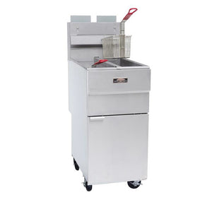 Copper Beech CBF-2525 Split Pot Tube Fired Fryer Gas Floor Model 25 Lb. Oil Capacity Per Pot (6209776025779)