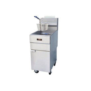Copper Beech CBF-40 Tube Fired Fryer Gas Floor Model 40 Lb. Oil Capacity (6209781596339)