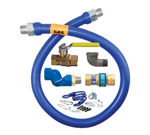 "Dormont 16125KITS36 Dormont Blue Hose Moveable Gas Connector Kit 1-1/4"" Inside Dia. 36"" Long"