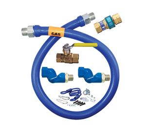 "Dormont 1650KIT2S36 Dormont Blue Hose Moveable Gas Connector Kit 1/2"" Inside Dia. 36"" Long"