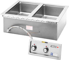 "Wells MOD-200TDM-QS Food Warmer Top-Mount Built-In Electric (2) 12"" X 20"" Openings (6128249340083)"
