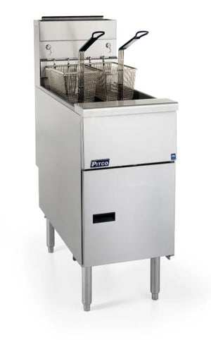 Pitco SG14-S Solstice Fryer Gas Floor Model Full Frypot 40-50 Lb. Oil Capacity 110000 BTU (6128250159283)
