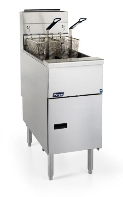 Pitco SG14-S Solstice Fryer Gas Floor Model Full Frypot 40-50 Lb. Oil Capacity 110000 BTU