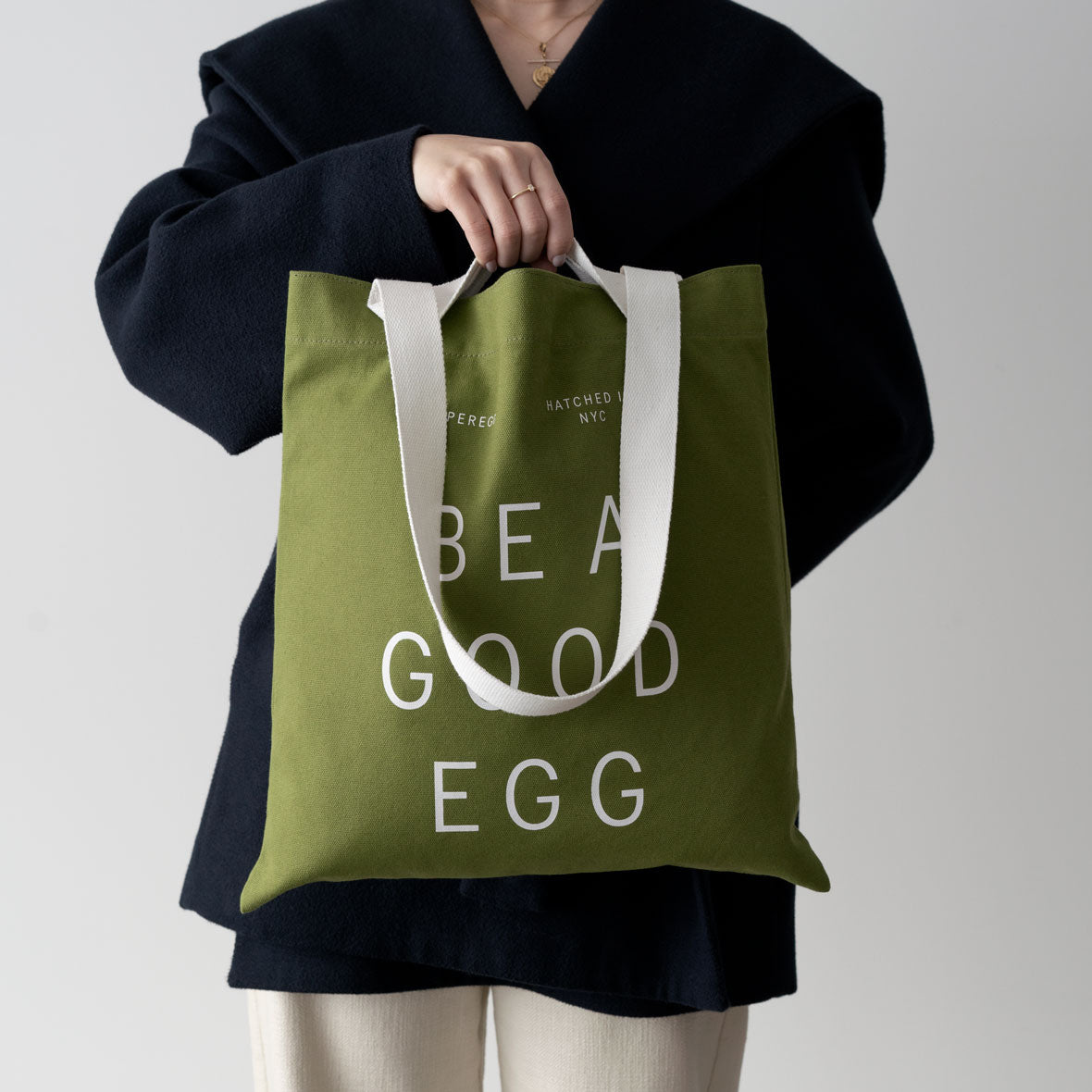 Superegg clean beauty vegan skincare Tote Be a good egg