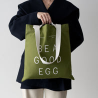 Load image into Gallery viewer, Superegg clean beauty vegan skincare Tote Be a good egg