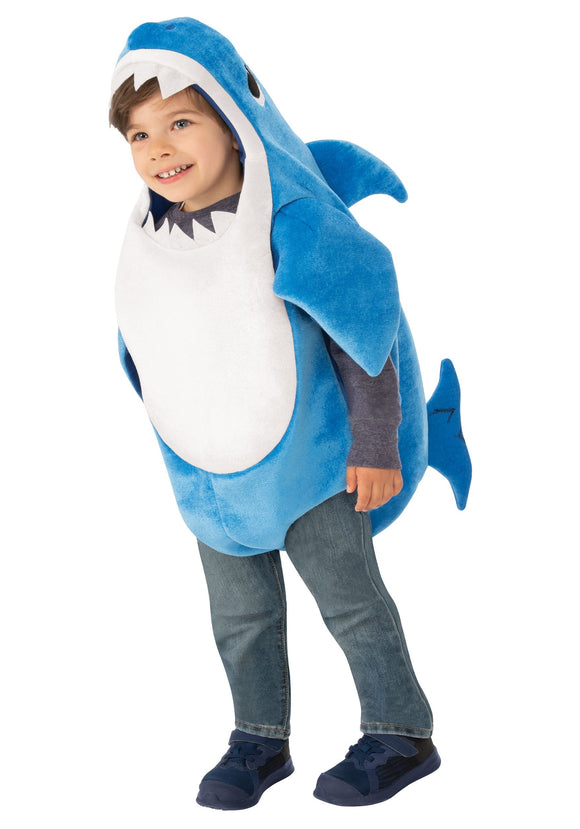 Toddler Baby Shark Daddy Shark Costume with Sound