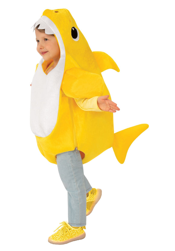 Toddler Baby Shark Costume with Sound Chip