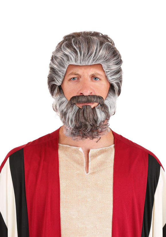 Biblical Moses Wig and Beard set
