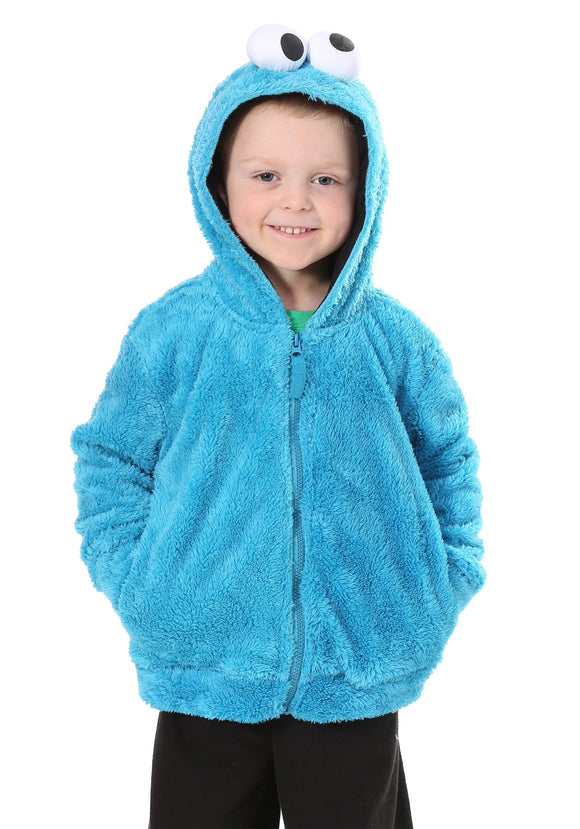 Cookie Monster Sesame Street Faux Fur Unisex Costume Hoodie