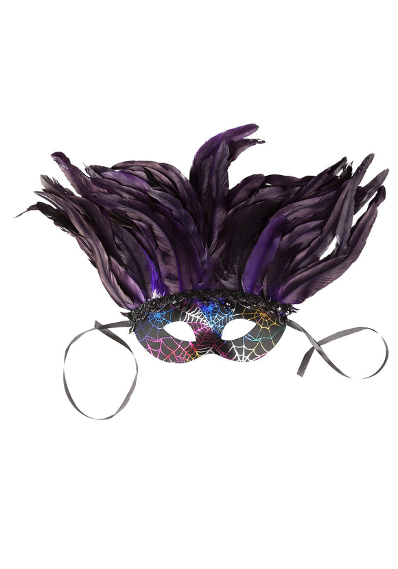 Feather Mardi Gras Deluxe Mask
