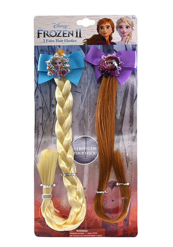 Frozen 2 Anna & Elsa 2pk Faux Hair Accessory