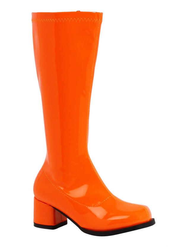 Orange Gogo Boots for Girls