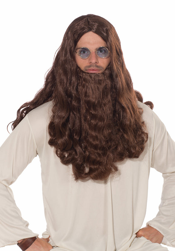 Guru-vy Long Hair Adult Wig and Beard