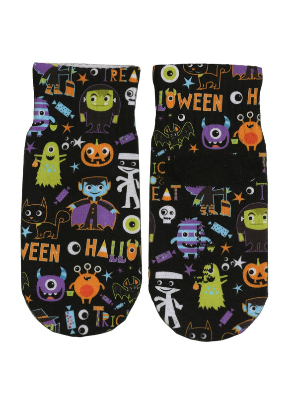 Kids Halloween Monsters Ankle Socks