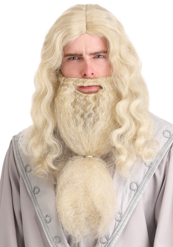 Headmaster Wizard Wig and Beard for Adults