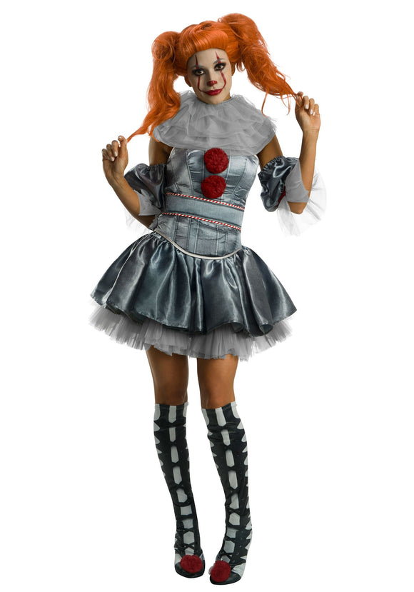 Women's Deluxe Pennywise Dress Costume