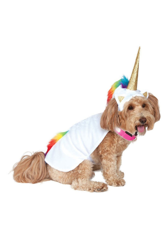 Unicorn Cape Light Up Collar Dog Costume