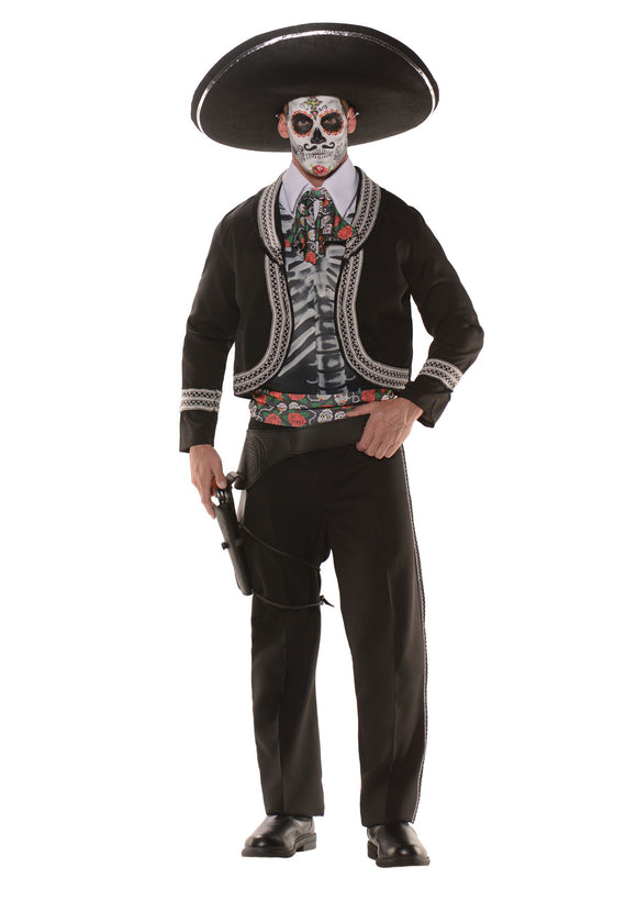 Day of the Dead Costume - Plus Size for Men 2X