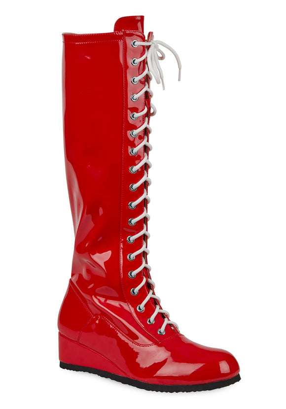 Red Wrestling Boots for Men