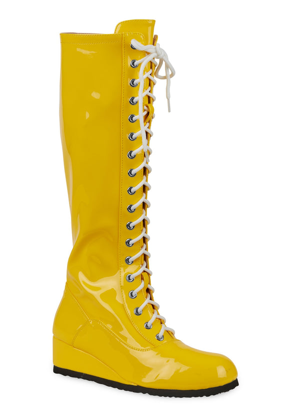 Yellow Wrestling Boots for Men