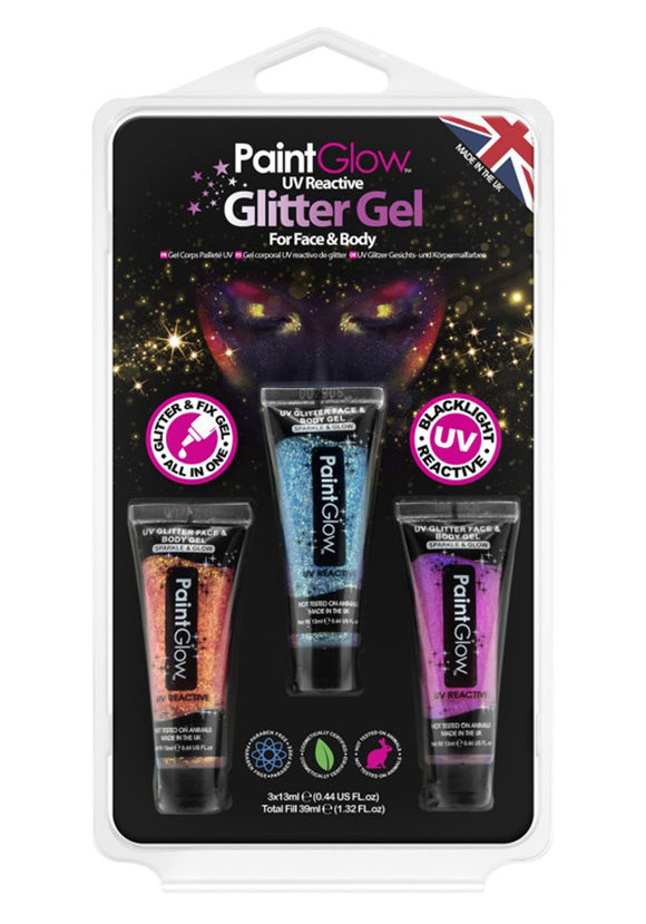 Glitter Neon UV Gel Set