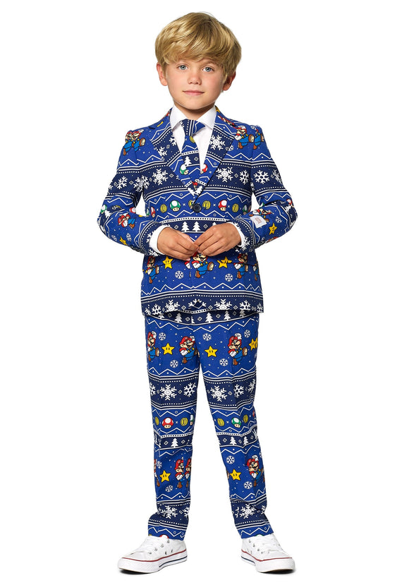 Merry Mario Boy's Suit Opposuit