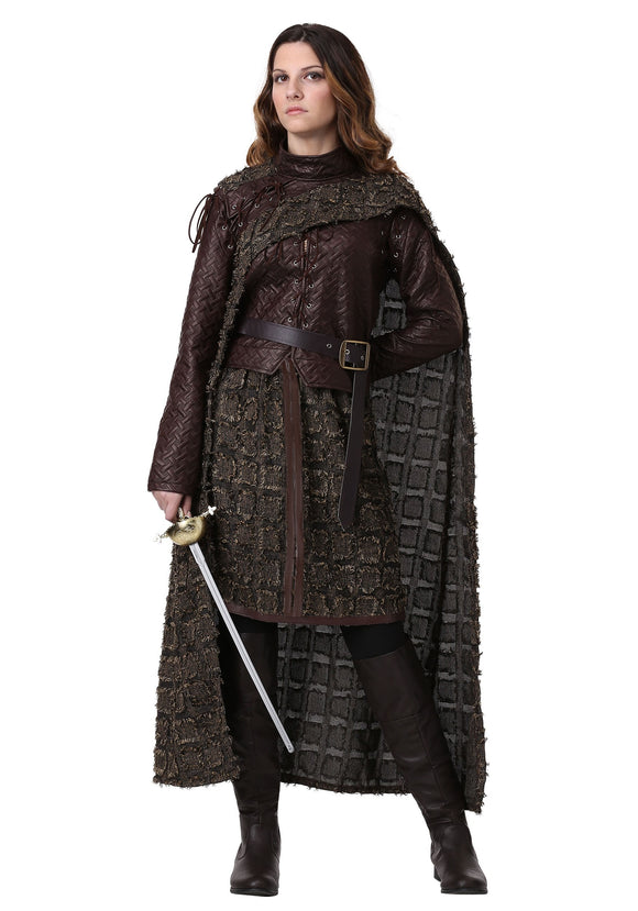 Plus Size Winter Warrior Costume for Women