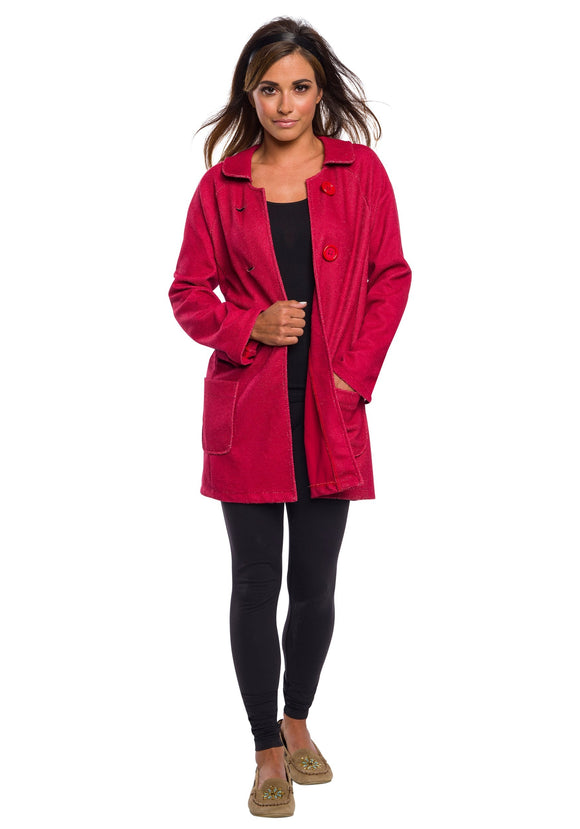 Womens Sabrina Deluxe Coat Costume