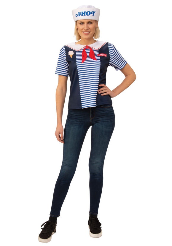 Stranger Things Robin Scoops Ahoy Costume for Women
