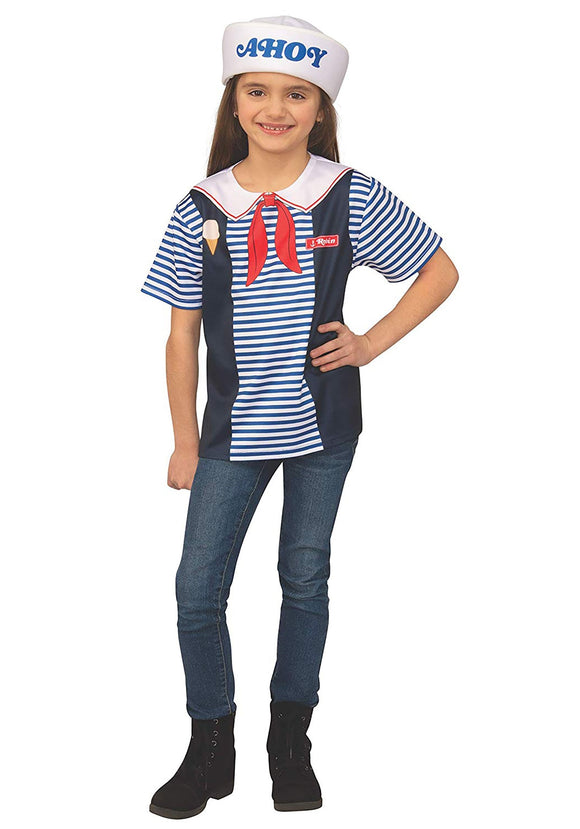 Robin's Scoops Ahoy Uniform Kids Costume Stranger Things