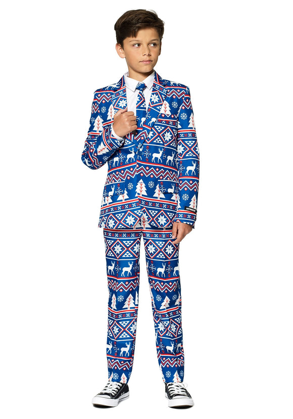Boy's Suitmeister Christmas Blue Nordic Boy's Suit