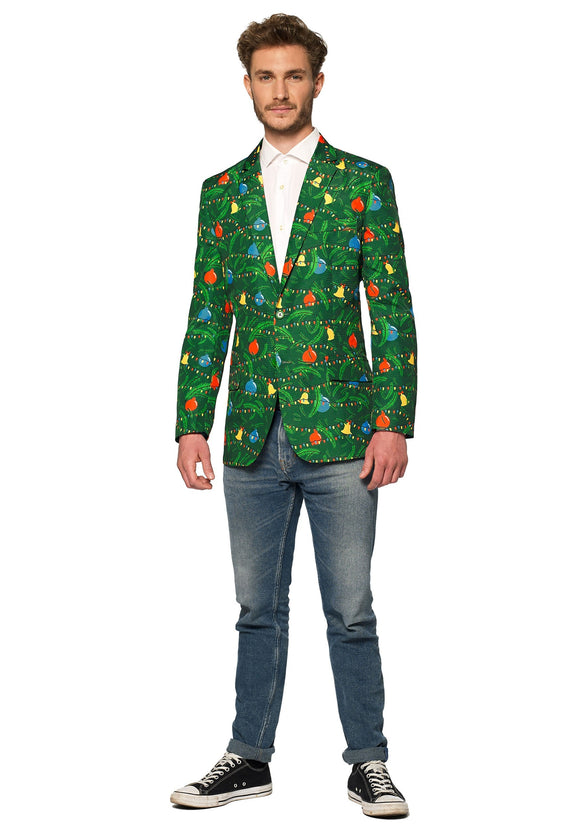 Christmas Green Tree Light Up Men's Blazer Suitmeister