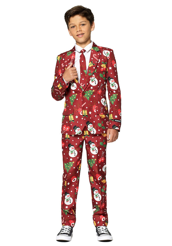 Christmas Red Light Up Boy's Suit Suitmeister