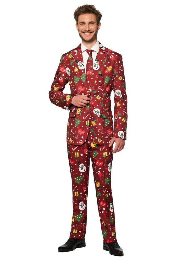 Light Up Red Christmas Suitmeister Men's Suit