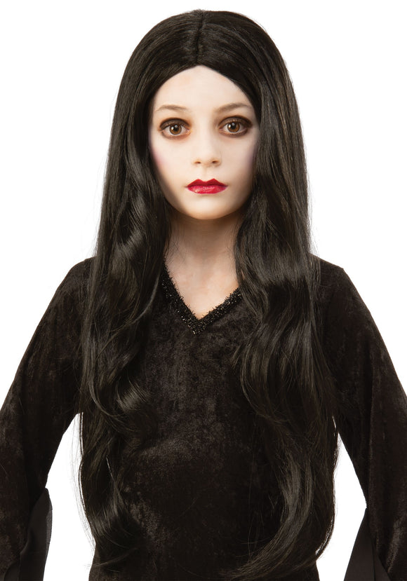 The Addams Family Morticia Kid's Wig Accessory