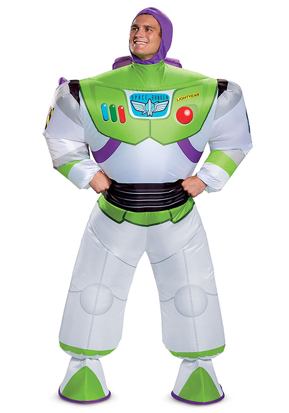 Toy Story Buzz Lightyear Inflatable Costume for Adults