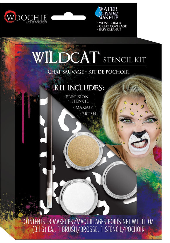 Wildcat Stencil and Makeup Kit Water Activated