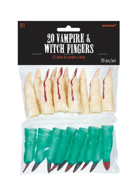 Witch and Vampire Fingers (pack of 20 fingers)