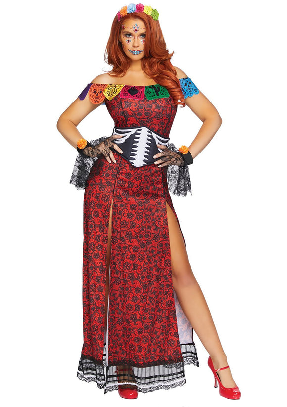 Deluxe Women's Day of the Dead Beauty Costume