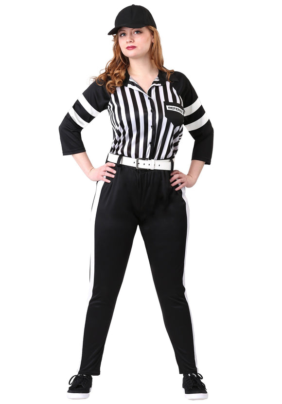 Plus Size Referee Costume for Women