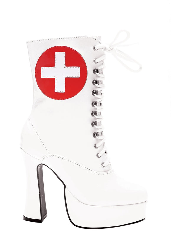 White Nurse Boots for Women