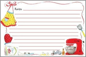 Gina B. Designs Red Mixer Recipe Cards