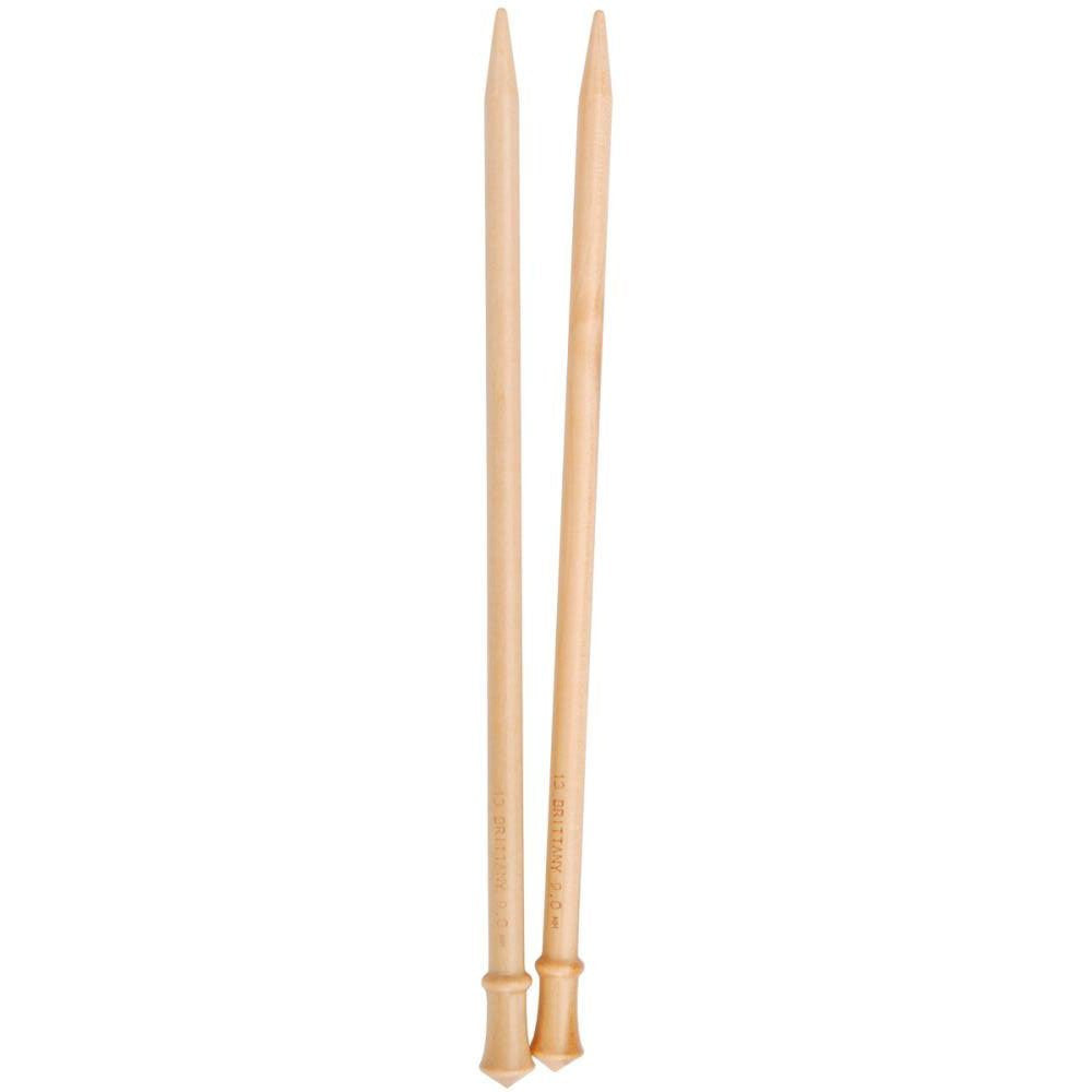 Brittany Single Point 10-inch (25cm) Knitting Needles