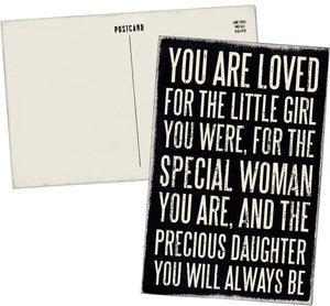 Mailable Wooden Greeting Card - Love You, Mom