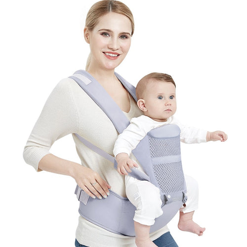 Ergonomic Breathable Multi-function Baby Carrier with Heap Seat