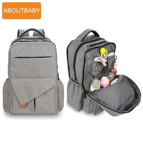 Backpack Diaper Bag - Waterproof Breathable with Stroller Buckles