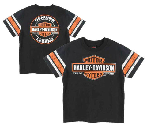 Harley-Davidson® Big Boys' Interlock Distressed Short Sleeve Tee