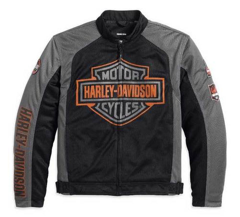 Harley-Davidson® Men's Bar & Shield Logo Mesh Jacket Black