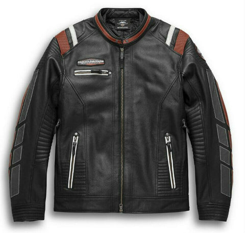 Harley-Davidson® Mens Boxford Leather Riding Jacket