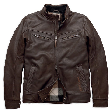 Harley-Davidson®Mens Lawlen Jacket Vintage Brown